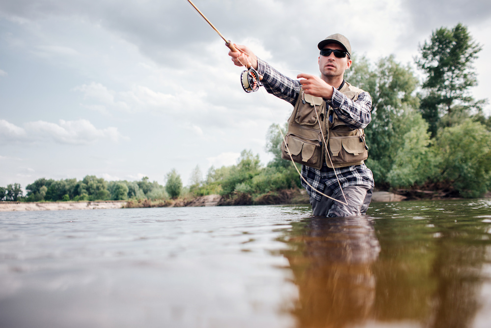 fly fishing with a spinning rod tips
